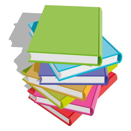 Stack of multicolor books Stock Vector - 8682619