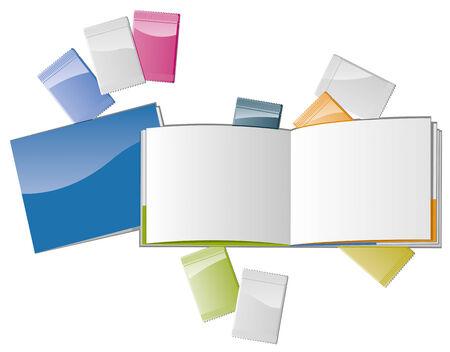 sampler: Abrir plantilla de revista con muestras de cosm�ticos y propagaci�n en blanco