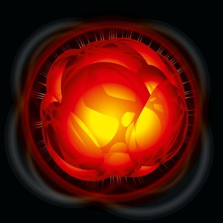 Power explosion. Vector Illustration Stock Vector - 9327727