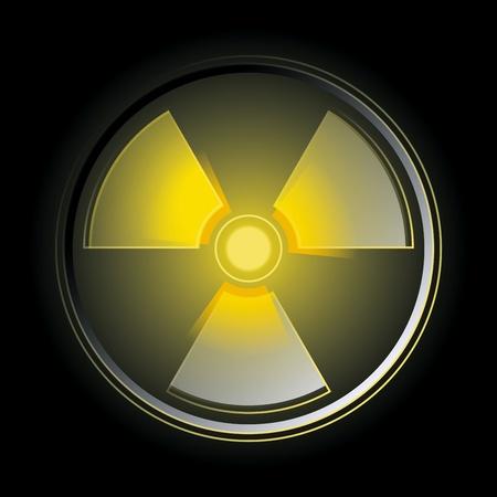 Glowing in the dark radioactive symbol. Vector illustration Vector