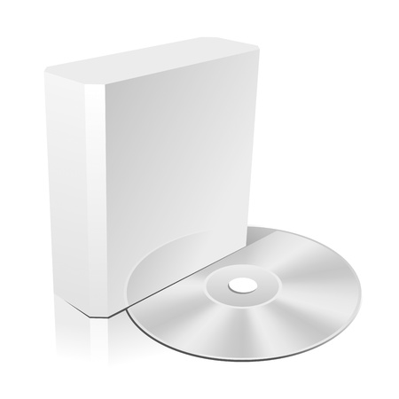 Software CD Box Blank Template. Vector Illustration (EPS 8.0) Vector