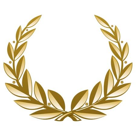 wreath vector: Golden Wreath. Vector Illustration (EPS v. 8.0)