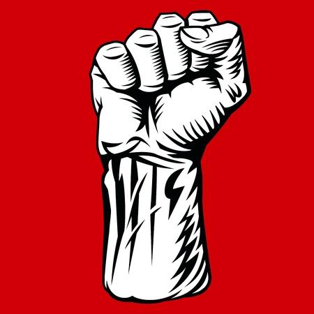 revolucionario: S�mbolo de la mano de lucha. Ilustraci�n vectorial Vectores