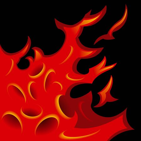 Tattoo-stylized flame tongues. Vector Illustration Stock Vector - 9327730