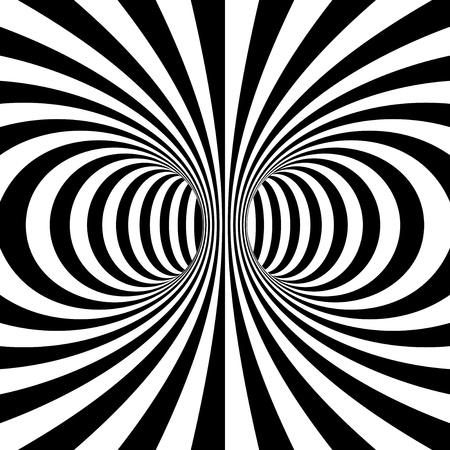 Noir et blanc entrelace projection sur tore. Illustration vectorielle Banque d'images - 10508706