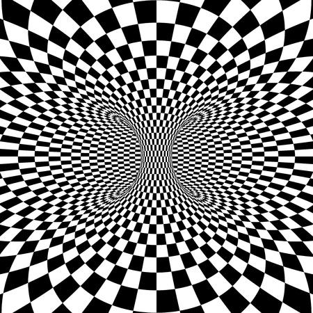 beignet: Noir et blanc de projection carr�s sur tore. Vector illustration
