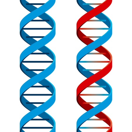 dna background: Seamless DNA Symbol on white background. Vector Illustration Illustration