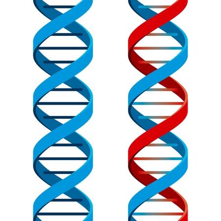 spirale dna: Simbolo del DNA senza soluzione di continuit� su sfondo bianco. Illustrazione Vettoriale