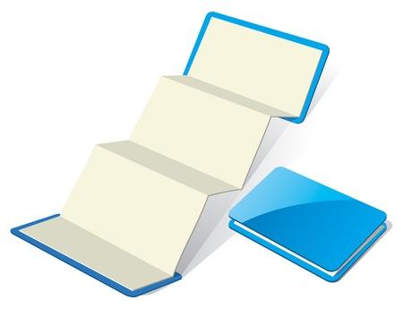 z fold: Blank Z-Card template.  Illustration