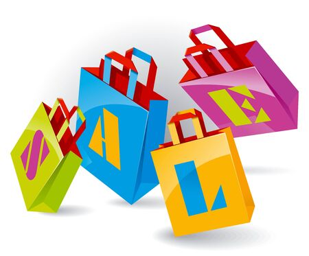 Paper Bags for shopping with Stock Vector - 11274255