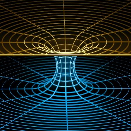 quantum: Geometrie, Wiskunde en Natuurkunde wireframe symbool. Vector illustratie. Stock Illustratie