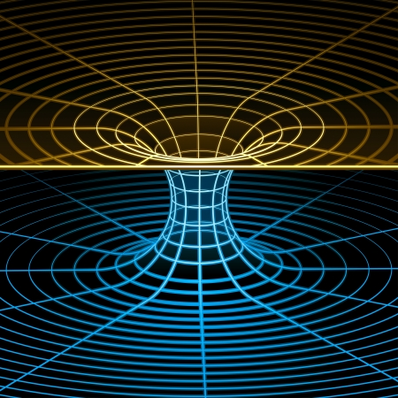 torus: Geometry, Mathematics and Physics wireframe symbol. Vector illustration.