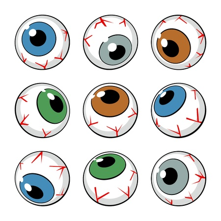 Set of eyeball symbols on white background. Vector Illustration Stock Vector - 12171214