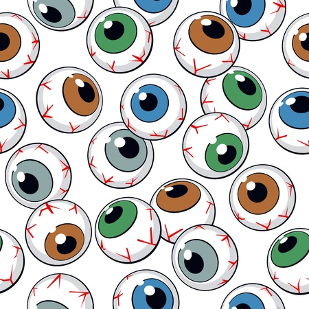 Eyeballs seamless background. Vector Illustration Vector