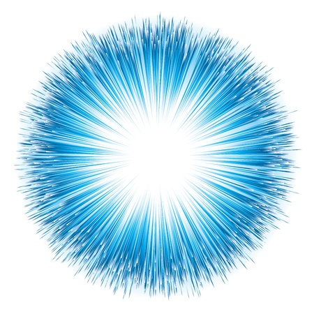 Blaues Licht Explosion. Vektor-Illustration