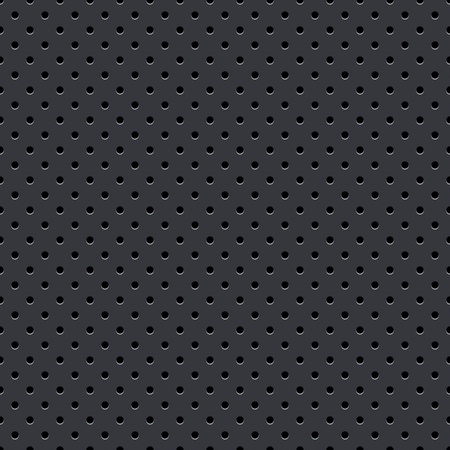 Dark Gray Seamless Perforated Plate Vector