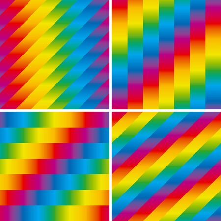 Seamless striped spectrum patterns set illustration Stock Vector - 13079659