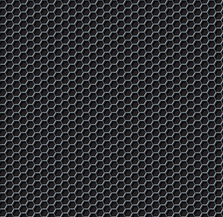 metal mesh: Hexagon grid seamless background  Vector illustration