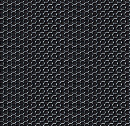 lamiera metallica: Hexagon rete senza soluzione di continuit� vettore sfondo