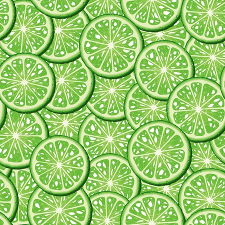 Limes seamless background. Vector illustration Vector