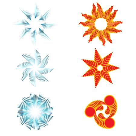 Set of six day and night symbols for logotype  Vector illustration Stock Vector - 14439859