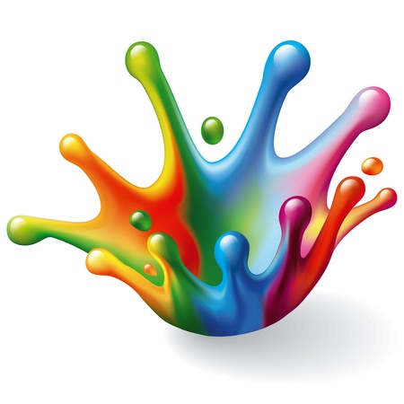 Color Splash on White Background  Illustration Vector