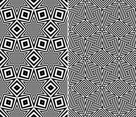 Set of Two Seamless Starry Patterns  Vector Illustration Vector