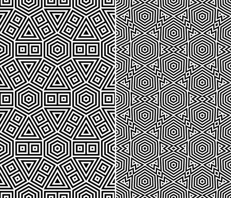Set of Two Seamless Patterns  Vector Illustration Vector