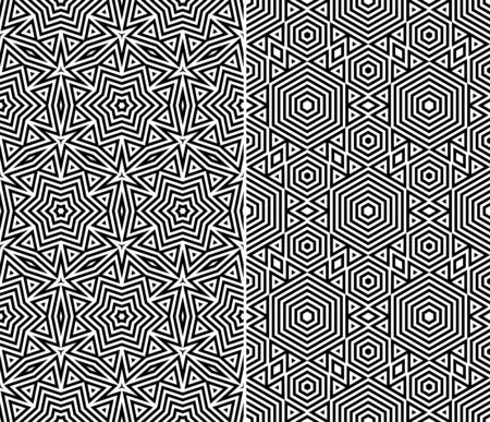 ethno: Set of Two Seamless Patterns  Vector Illustration