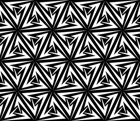 dynamical: Aggressive Arrows Seamless Pattern  Vector Illustration Illustration