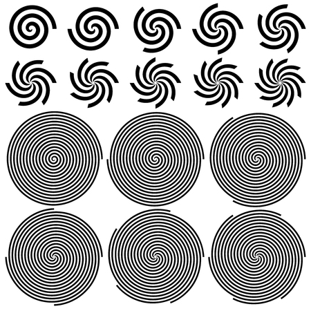 hypnosis: Spirals Pattern Set   Vector Illustration