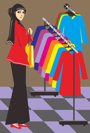 mujeres musulmanas: Las mujeres musulmanas est�n de compras