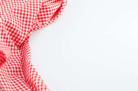 Red napkin with place for your text Stock Photo