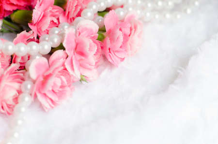 place for text: Pink Flower Background with place for text