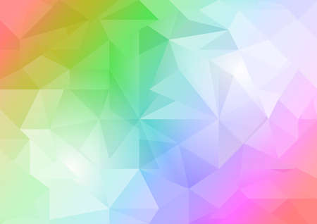 Colorful abstract low polygon background