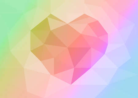 Rainbow Heart abstract background photo