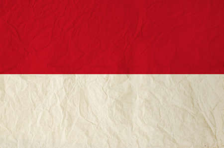 indonesia: Flag of the Indonesia with vintage old paper Stock Photo