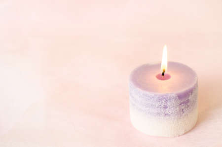 Romantic background - Aroma candle with vintage color Foto de archivo