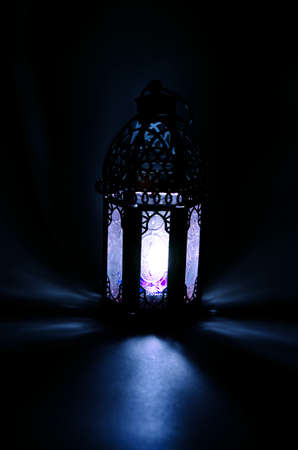 Arabic lamp with beautiful lights - candle light
