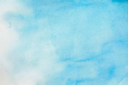 Abstracte aquarel achtergrond - Blauwe lucht aquarel verf Stockfoto