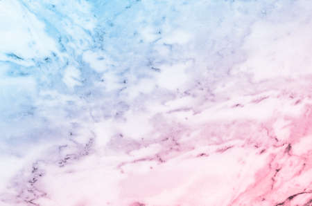 Pastel blue and pink marble stone texture background Standard-Bild