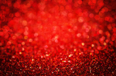 Red abstract glitter bokeh