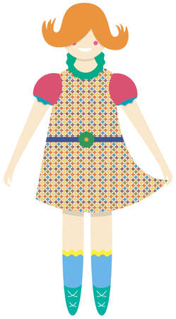 favourite: doll Illustration