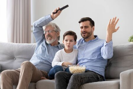 Three generations of men frustrated by favourite football team failure