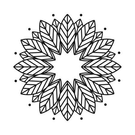 leaf frame design on white background