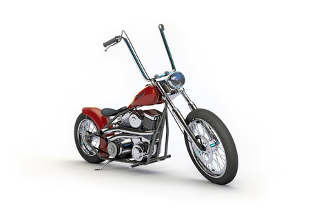 Bobber Motorcycle - Simplistic 3D rendering of a bobber style motorcycle.
