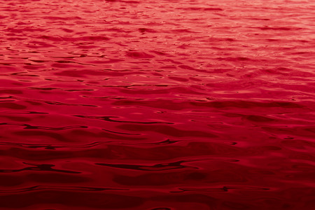 close up of water surface - sea of blood Stock Photo