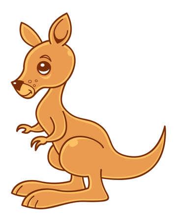 Cute little kangaroo vector illustration. Vector