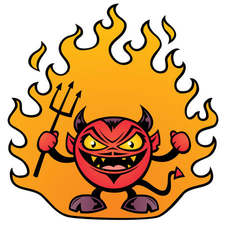 Vector illustration of a fat little devil character. Фото со стока - 4743836