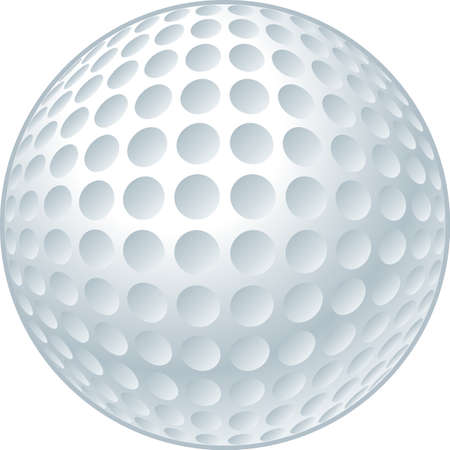 Vector illustration of a golf ball. Illustration